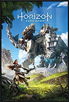 Horizon Zero Dawn – Framed Gaming Poster Print Gam Cover Key Art Size 24 inches x 36 inches