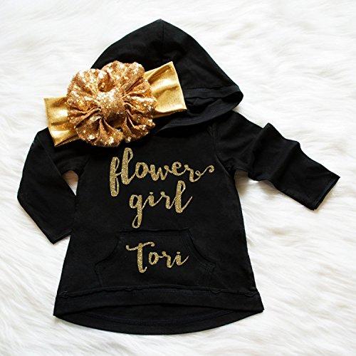 Flower girl hoodie, Flower Girl glitter shirt, Wedding shirt, bridal party hoodies, flower girl gift, flower girl hoodie, flower girl top -