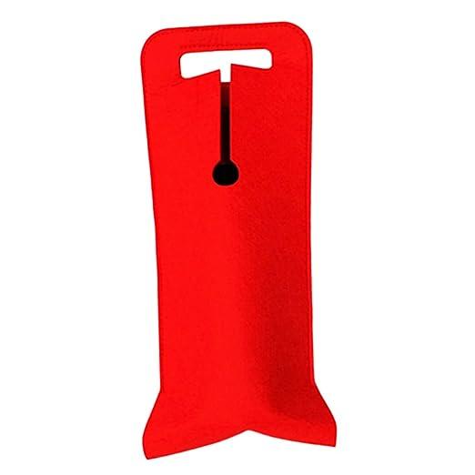 FLAMEER Enfriador De Bolsas con Botella De Vino Grueso Rojo ...