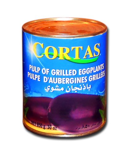 Cortas Baba Ghannouge Eggplant Dip (Pulp of Grilled Eggplants, 1.87 Lb (850g)