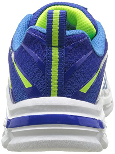 Skechers Kids Boys' Nitrate Sneaker, Royal/Yellow, 13 M US Little Kid