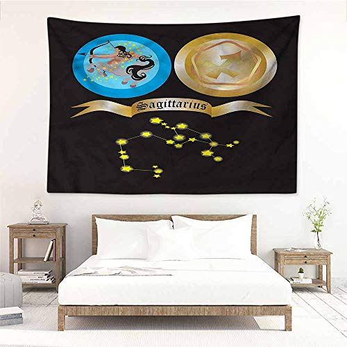 Sunnyhome Simple Tapestry,Zodiac Sagittarius Mythical Centaur,Beach Tapestry,W60x51L