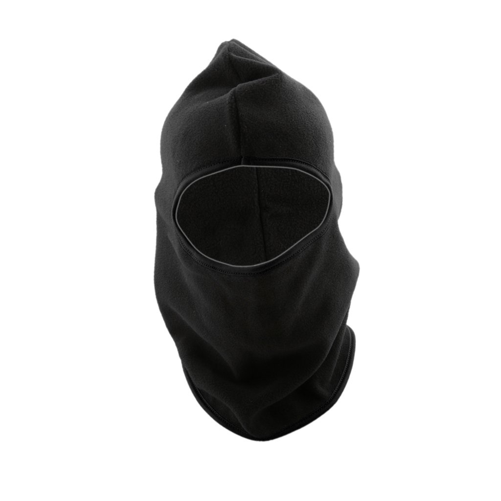 Outdoor Cycling Ski Winter Thermal Fleece Balaclava Full Face Neck Mask Hat Cap - Black, one size MagiDeal STK0154011327