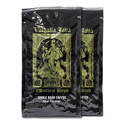 Java Giant Coffee - Valhalla Java Whole Bean Coffee Bundle Deal, USDA Certified Organic & Fair Trade (2-Pack) 24oz