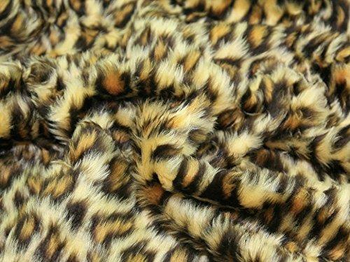 Animal Print Short Pile Fur Fabric Leopard - per ()