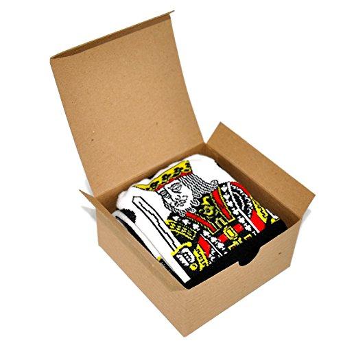 Themed Patterned Men's Novelty Socks 1 Pair in Small Gift Box (King of ()