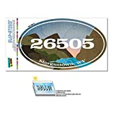 Graphics and More Zip Code 26505 Morgantown, WV Euro Oval Window Bumper Glossy Laminated Sticker - River Rocks