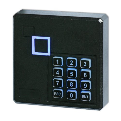 proof 125KHz Wiegand 26 26bit Access Control Keypad RFID Reader Color Black (Weatherproof Card Reader)