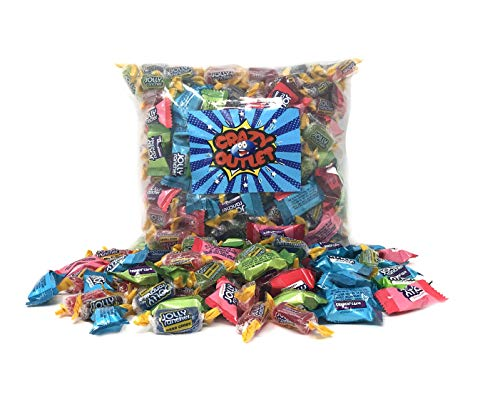 CrazyOutlet Bulk Pack - Jolly Rancher Hard Candy Mix, Jolly Rancher Crunch 'N Chew and Classic Hard Candy, Original Flavors, Fat-Free Candy, 2Lbs (Grape Jolly Rancher Hard Candy)