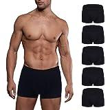 Mens Boxer Briefs 5 Pack No Ride-up Comfortable Breathable Cotton Sport Short Leg Underwear