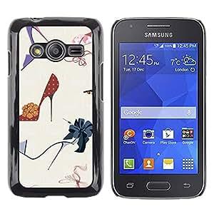 iKiki Tech / Estuche rígido - Fashion Stiletto Woman Pastel - Samsung Galaxy Ace 4 G313 SM-G313F