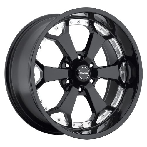 "Pro Comp Alloys Series 80 Adrenaline Gloss Black Wheel with Machined Accents (20x9""/6x139.7mm)"