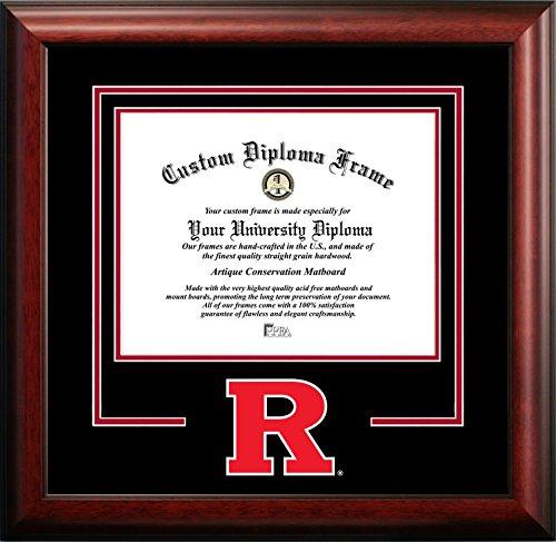 (Campus Images NCAA Rutgers Scarlet Knights Spirit Diploma Frame, 8.5 x 11, Mahogany)