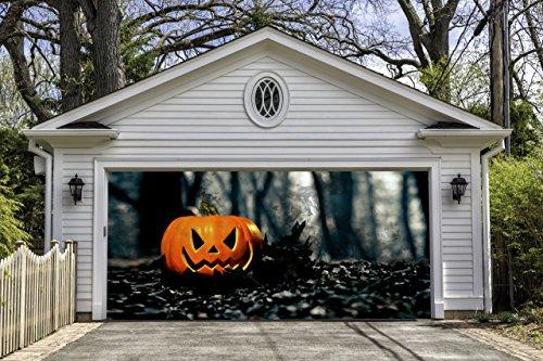 Halloween Garage Door Cover Outdoor Decorations of House Pumpkin Billboard Wall Banners GD2 (Halloween Decorations Garage Door)