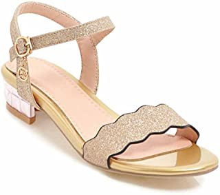 SHINIK Femmes Peep-Toe Glamour Roman Sandales Talon Décontracté Chaussures Taille 40-43