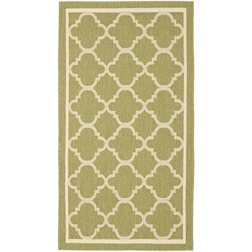 Cheap  Safavieh Courtyard Collection CY6918-244 Green and Beige Indoor/Outdoor Area Rug (2' x..