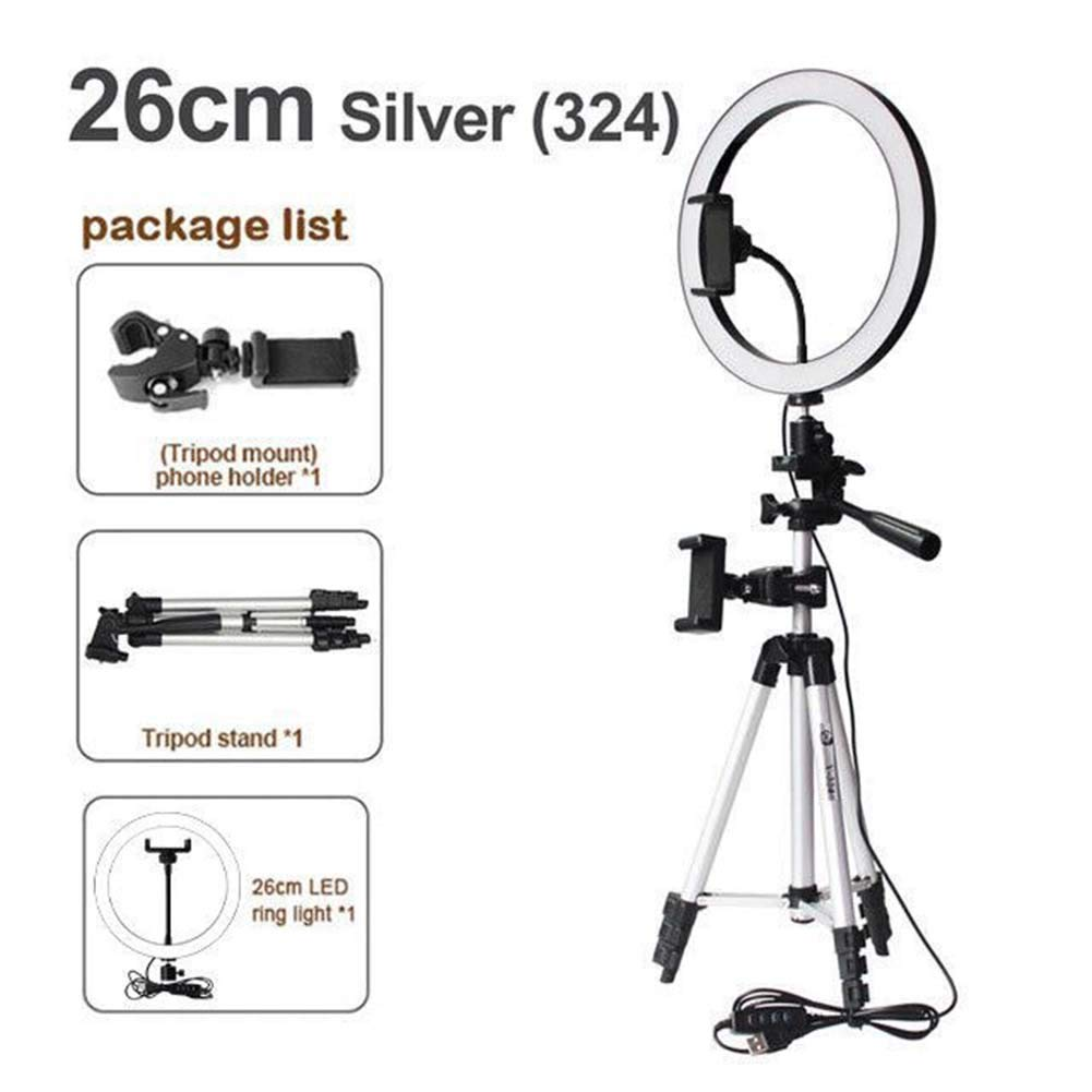 RUIXFLR LED Ring Light with Stand,Light Stand,Phone Holder for Makeup Selfie Portrait Photography, A3 by RUIXFLR