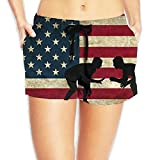Louise Morrison American Flag Wrestling Women's Boardshort Swim Trunks Beach Shorts