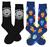 Rick and Morty Men's Crew Socks, Time To Get Schwifty 2-Pack