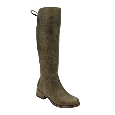 Women's P5032 LD Lace Top Boots Olive Green