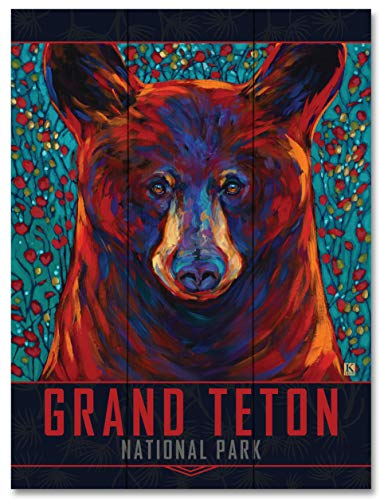 - Grand Teton Cinnamon Bear Wood Art Print by Kari Lehr (18