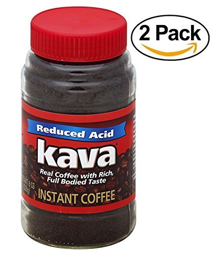 Kava, Acid-Neutralized Instant Coffee, 8oz in a Glass Jar (Pack of 2)