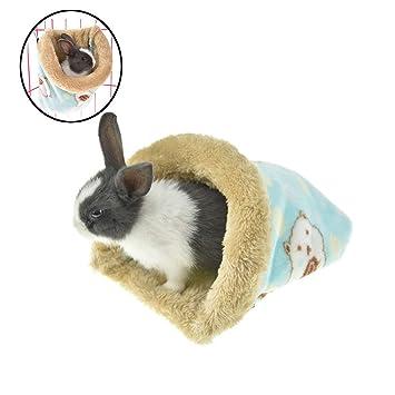 Saco cálido FLAdorepet para hámsters y animales pequeños, se puede colgar en la jaula, hecho de felpa suave: Amazon.es: Productos para mascotas