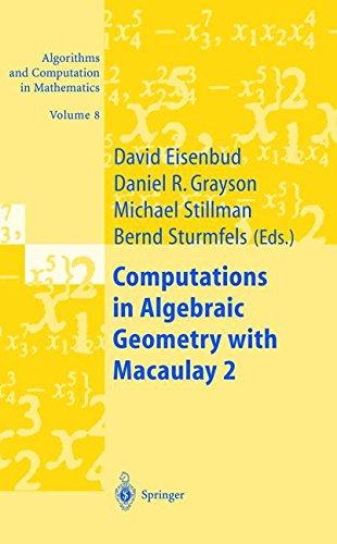Read Online Computations in Algebraic Geometry with Macaulay 2 PDF
