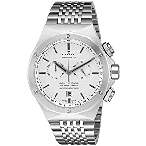 Edox Men's 10108 3 AIN Delfin Analog Display Swiss Quartz Silver Watch