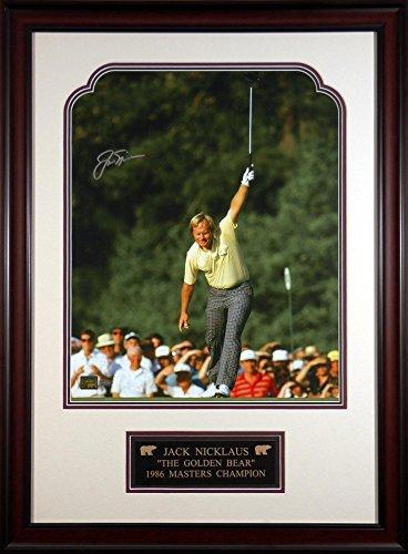 Jack Nicklaus 1986 Masters Framed Autographed 16