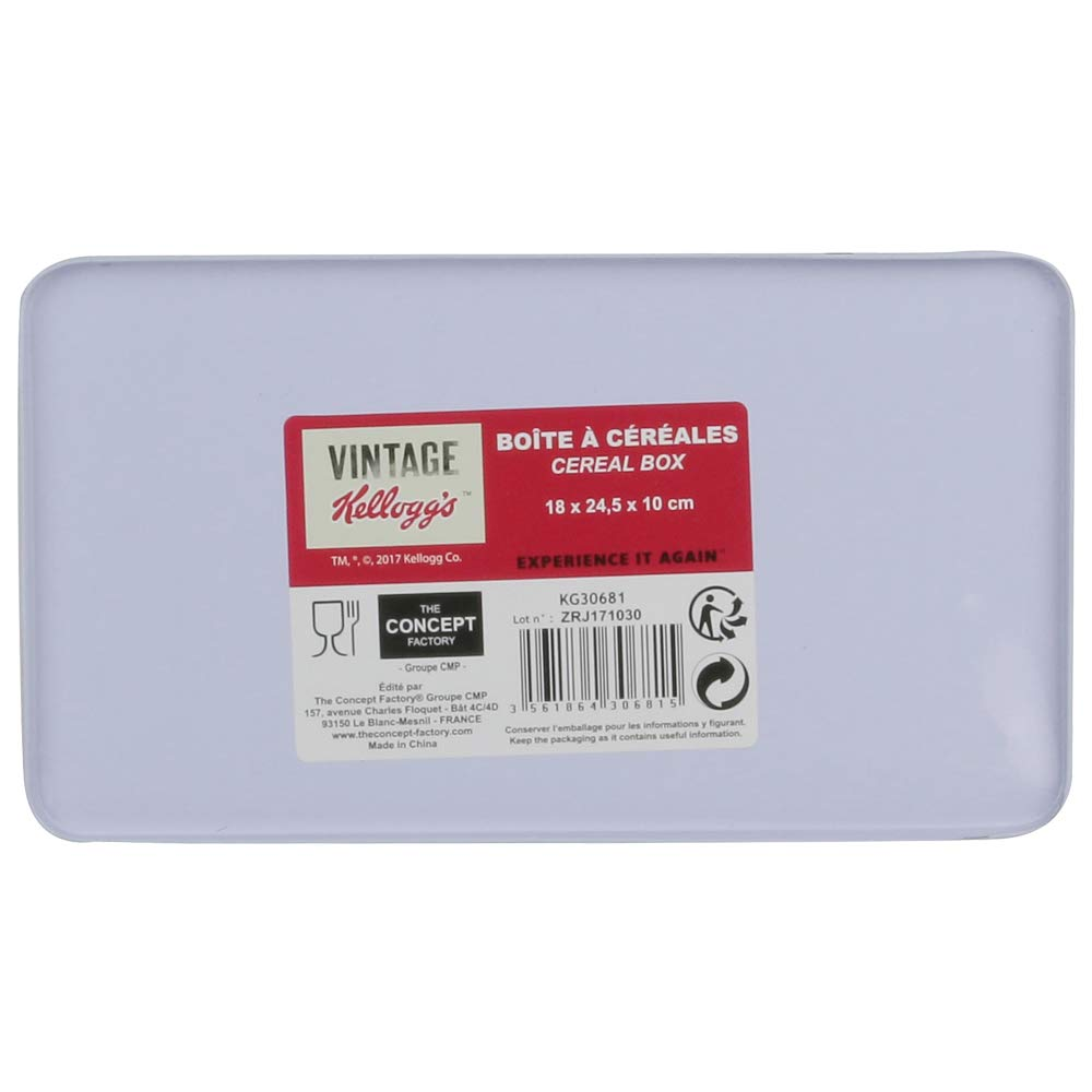 Metallo Bianco Rosso 18,5/x 10,3/x 25/cm Kellogg S kg30681/Scatola Cereali