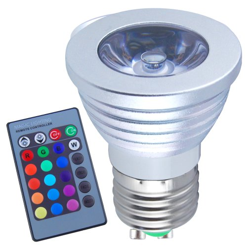 Excellent Eight Pieces 3W E27 Colorful Flashing LED RGB Bulb
