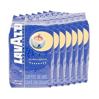 Lavazza Coffee Espresso Super Crema, Whole Beans, Pack of 6, 6 x 1000g by Lavazza
