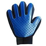 Fypo Dog Grooming Glove, Deshedding Tool For Long & Short Hair Care Pet Horses Cats Dogs Bunnies Rubber Tips Remover Unchewable Massage Mitt (Pet Glove)