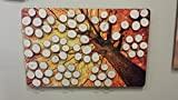 Colorful Woodland Tree; Wood Slice Signing Guest Book Alternative Wedding Guest Book