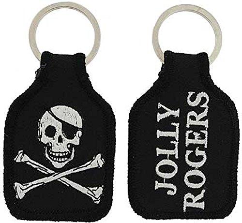 - Embroidered Key Chain - Jolly Roger Skull & Crossbones