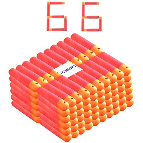 Mega Darts Refill Pack Red Premium Refill Bullets Compatible for Nerf N-Strike Mega Series Blasters 66 Pcs 9.5cm