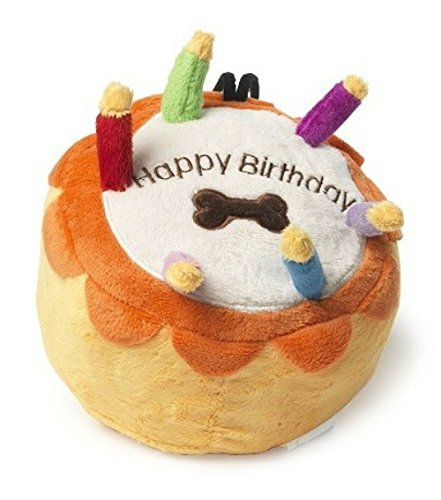 House Of Paws Celebration Happy Birthday Cake Dog Toy Large 7 18 Cm L Amazoncouk Pet Supplies