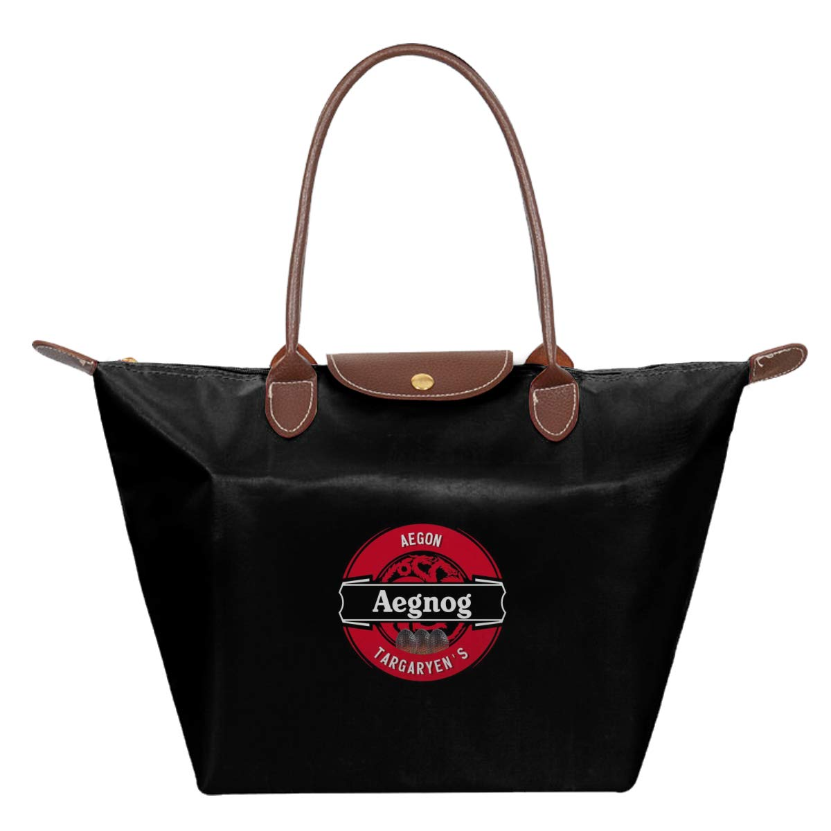 Aegon Targaryen Aegnog Game Of Thrones Waterproof Leather Folded Messenger Nylon Bag Travel Tote Hopping Folding School Handbags