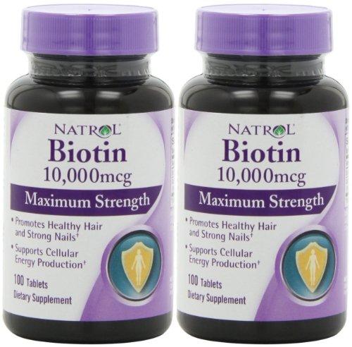 Биотин (10,000mcg) Максимальная сила (100ct Max-Сила х 2)