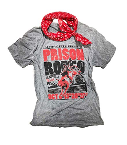 (Women Prison Rodeo Shirts Funny Vintage Country Music Tee Ladies' Cap Short Sleeve Tees Tops Size XL (Dark Grey))