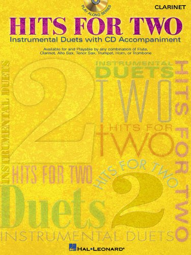 HITS FOR TWO CLARINET BK/CD INSTRUMENTAL DUETS (Instrumental (Clarinet Instrumental Folio)