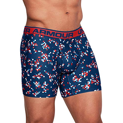 (Under Armour Men's Original Series Printed Boxerjock, Evening (473)/Risk Red, XX-Large)