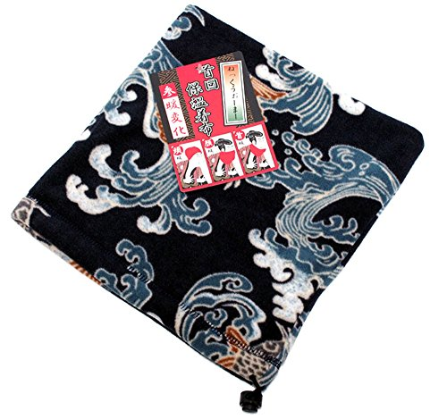 Marukawa Jeans Power Jeans Value Men's Fleece Neck Gaiter Wagara Neck Warmer (One Size, Red Snapper)
