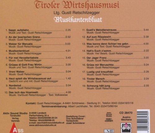 Tiroler Wirtshausmusi Musikantenbluat Amazoncom Music