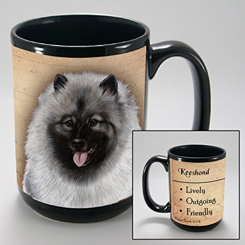 Dog Breeds (A-K) Keeshond 15-oz Coffee Mug Bundle with Non-Negotiable K-Nine Cash by Imprints Plus (104)