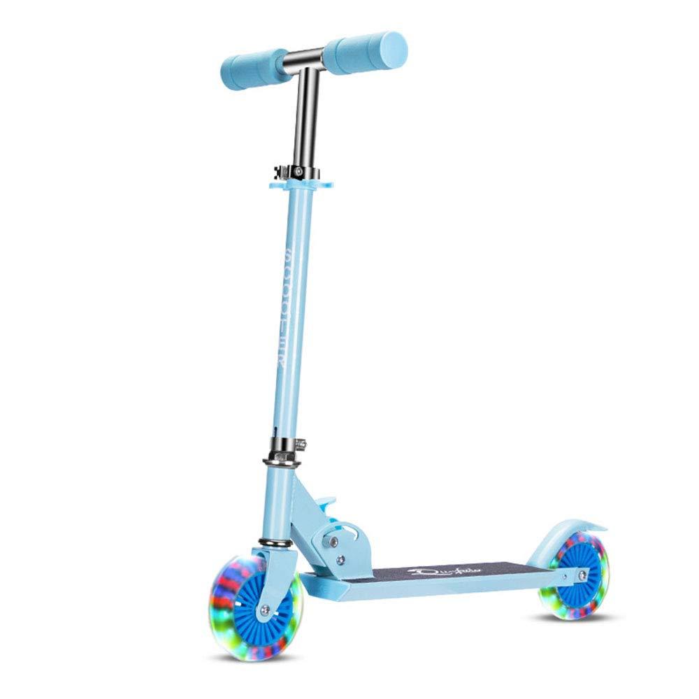 キックスクーター 幼児の女の子用スクーター B07Q3XZZVD、男の子用、2輪調節可能な高さスクーターLED付ライトアップホイール(ブルー) 青 青 B07Q3XZZVD, 色めき:62a38792 --- 92.222.216.21