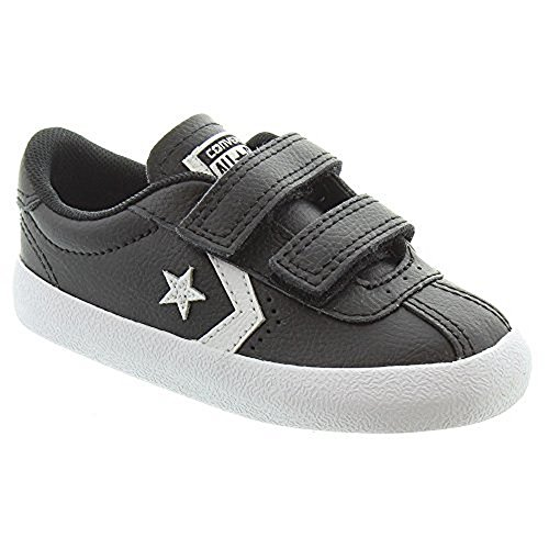 Converse Kids Unisex Breakpoint Velcro Oxford Leather, Black, 7