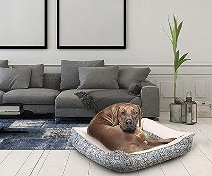 Cama para Mascotas Fuji GRANDE Azul 90x75cm: Amazon.es: Juguetes y juegos