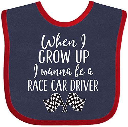 (Inktastic - Future Race Car Driver Childs Baby Bib Navy and Red 2c4ae)